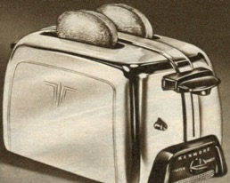 Kenmore High Pop toaster, 1951